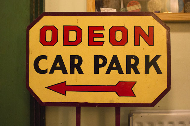 Odeon Car Park sign
