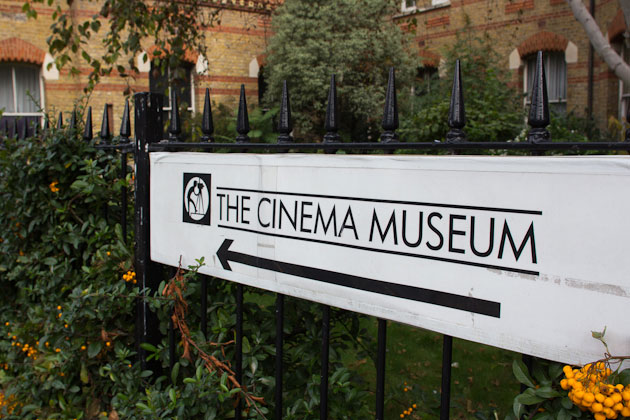 cinema museum sign