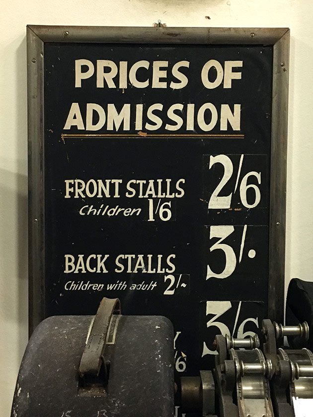 prices of admission