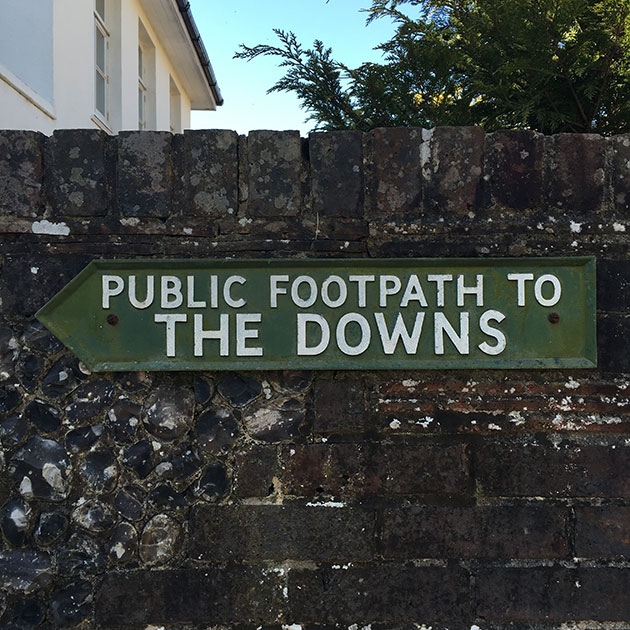 footpath-sign